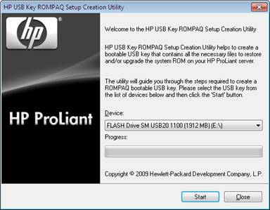 how to boot usb from bios hp